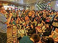 HK Causeway Bay Times Square night The Flame Music Russell Street 09 artists band show visitors Mar-2013.JPG