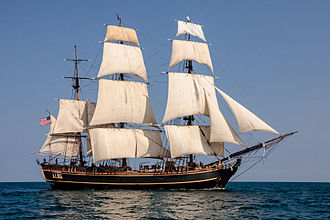 Mutiny on the Bounty - Image: HMS BOUNTY II with Full Sails