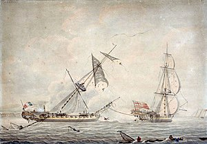 Prize (law) - Image: HMS Blanche and Pique