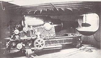 RML 12-inch 25-ton gun - Image: HMS Hotspur (1870) 12 inch gun