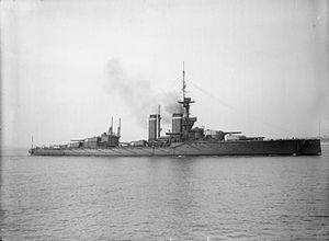 HMS King George V (1911) - King George V underway, about 1913