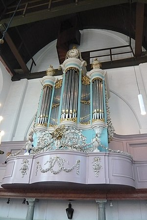 Waalse Kerk, Haarlem - The organ was built in 1808 by Friederichs.