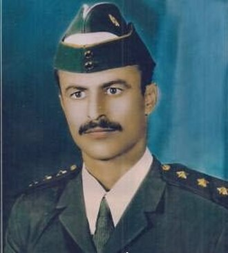 Abdrabbuh Mansur Hadi - Young Abdrabbuh Mansour Hadi during his service in the army of South Yemen.