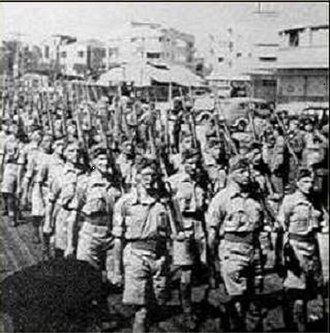 Haganah - Haganah troops on parade