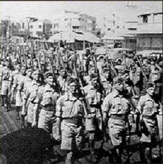 Haganah - Haganah troops on parade