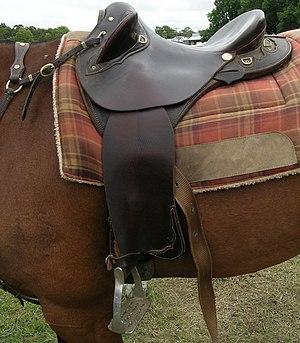Australian Stock Saddle - Half breed saddle with modern 4 bar irons