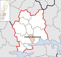 Hallstahammar Municipality in Västmanland County.png