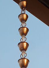 30 Amazing Diy Rain Chain Ideas besides 370 together with Rain chain moreover Stock Image Rain Chain Wall Desert Garden Jc Raulston Arboretum Raleigh Nc Image38798531 likewise Rain Chains Replace Downspouts. on japanese rain chain