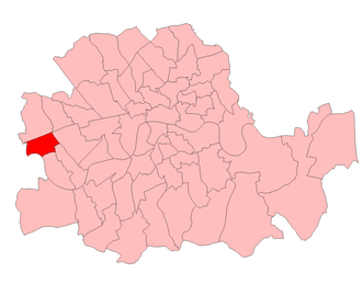 Hammersmith South (UK Parliament constituency) - Hammersmith South in the Parliamentary County of London 1918-50