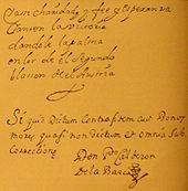 Faksimile einer Handschrift von Calderón (Quelle: Wikimedia)
