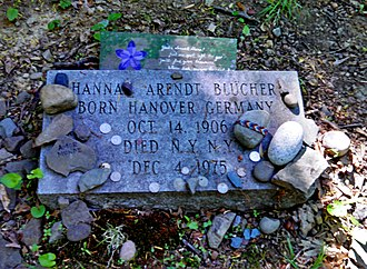 Hannah Arendt - Grave of author and political theorist Hannah Arendt at Bard College Cemetery in Annandale-on-Hudson, New York.
