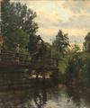 Hans Christian Fischer - Et ungt par på en bro - 1883.png