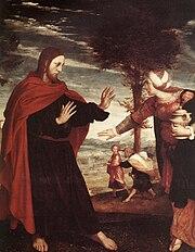 СВЕТА МАРИЈА МАГДАЛЕНА -БЛАГА МАРИЈА 180px-Hans_Holbein_d._J._-_Noli_me_Tangere_%28detail%29_-_WGA11503