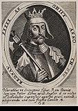Harald 2. som gengivet på et kobberstik fra 1646 af Albert Haelwegh