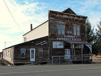 National Register of Historic Places listings in Morrow County, Oregon - Image: Hardman Community Center Hardman Oregon