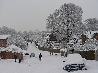 Weather-related cancellation - Abandoned Cars in the snow on Hareward Road in the United Kingdom