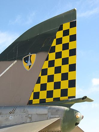 69 Squadron (Israel) - Checkered tail of 69 Squadron F-4 Phantom II