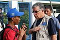 He talked about losing his livelihood — in Tacloban, Philippines (10939461623).jpg
