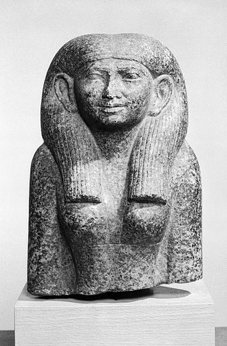 Middle Kingdom of Egypt - Head and Torso of a Noblewoman, around 1844–1837 BC. 59.1. Brooklyn Museum