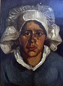 Head of a Peasant Woman in a White Bonnet by Vincent van Gogh.jpg