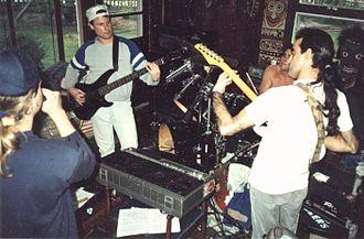 Crumbsuckers - Heavy Rain rehearsing in May 1989