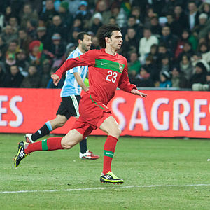 Hélder Postiga - Postiga in action for Portugal in a friendly match against Argentina on 9 February 2011.