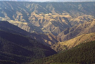 Hells Canyon Wilderness (Oregon and Idaho) - From Heaven's Gate Overlook, near Riggins, Idaho