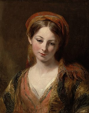 Margaret Sarah Carpenter - A young girl by Margaret Sarah Carpenter (1839)