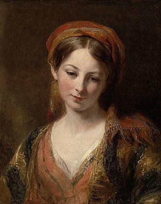 Margaret Sarah Carpenter - A young girl by Margaret Sarah Carpenter (1839)