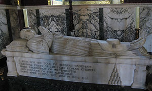 Herbert Vaughan - Cardinal Vaughan's tomb in the Chapel of St Thomas of Canterbury