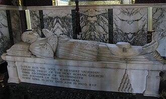 Herbert Vaughan - Cardinal Vaughan's tomb in the Chapel of St Thomas of Canterbury