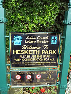 Hesketh Park sign, Southport.JPG