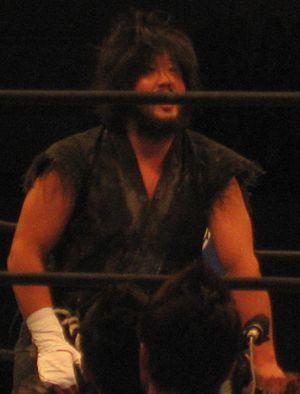 Captain New Japan - Hirasawa as Hideo Saito in November 2011
