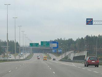 Finnish national road 4 - Image: Highway 4 Helsinki Finland