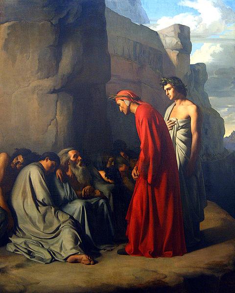 File:Hippolyte Flandrin - Le Dante, conduit par Virgile, offre des consolations aux âmes des Envieux.jpg