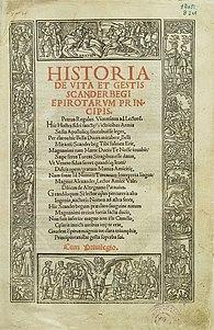 Historia de vita et gestis Scanderbegi Epirotarum (color)