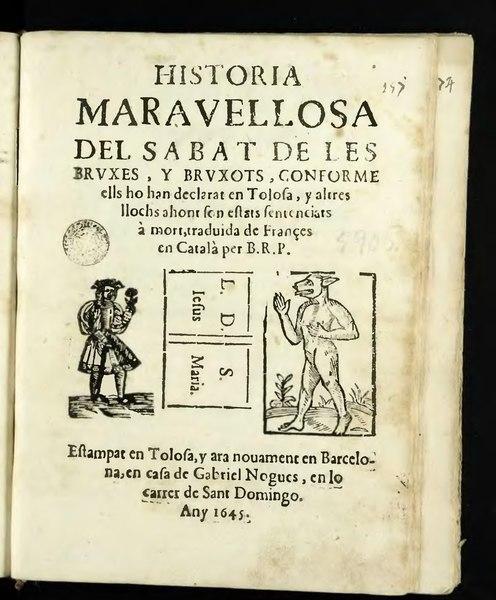 File:Historia maravellosa del Sabat de les brvxes y brvxots (1645).djvu