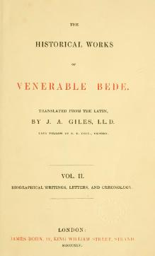 Historical Works of Venerable Bede vol. 2.djvu
