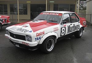 1977 Hardie-Ferodo 1000 - Charlie O'Brien and Ron Harrop placed fifth in a Holden LX Torana SL/R 5000 A9X entered by the Marlboro Holden Dealer Team