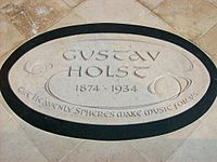 Holst memorial, Chichester Cathedral.JPG
