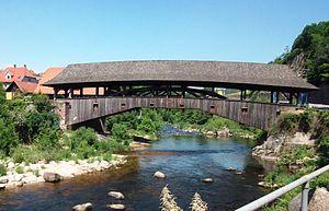 Murg (Northern Black Forest) - Image: Holzbrücke Forbach
