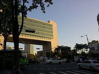 Hongik University - Gate from Hongdae Boulevard