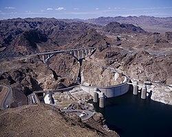 Hoover Dam, Hoover Dam Bypass Bridge 2010-10-12.jpg