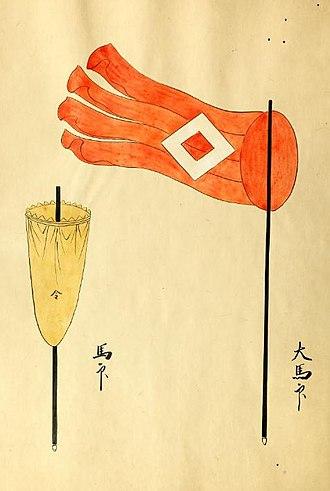 Uma-jirushi - Image: Hori Naoyori Battle Standards