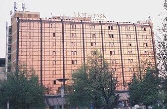 Sajmište, Novi Sad - Image: Hotel park