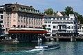 Hotel zum Storchen - Haus zum Schwert - ZSG Limmatboot 'Regula' - Münsterbrücke 2013-09-07 12-26-09.JPG