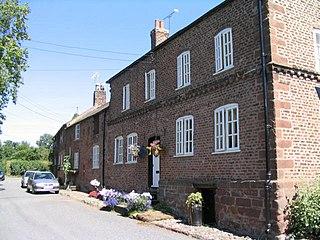 Shotwick farm village in the United Kingdom
