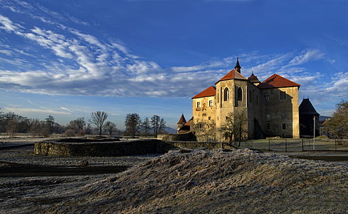 Autumn view of the Castle Švihov in Švihov in the Czech Republic