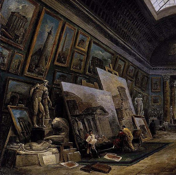 File:Hubert Robert - Imaginary View of the Grande Galerie in the Louvre (detail) - WGA19593.jpg