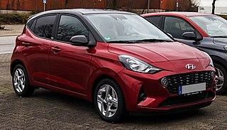 Hyundai i10 City car manufactured by Hyundai